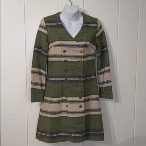 VTG 60s Vicky Vaughn double breasted coat dress